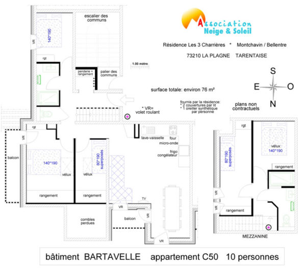 Appartement 10 Personnes Type Bartavelle